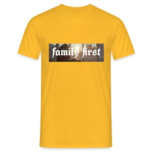 Family First Sunrise Box Logo - Männer T-Shirt