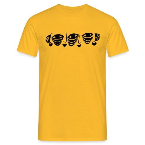Faces On Faces Illustration 1 - Men's T-Shirt