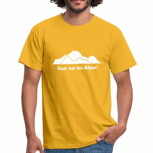 Vue sur les Alpes - T-shirt Homme