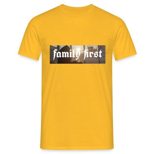 Family First Sunrise Box Logo - Männer T-Shirt
