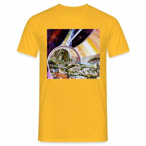 Toroidal Colonies - NASA space colony study - Men's T-Shirt
