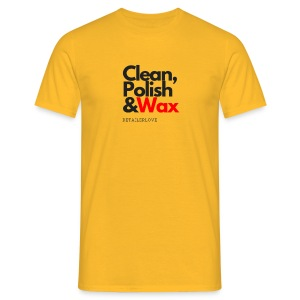 Clean,polish en wax - Mannen T-shirt