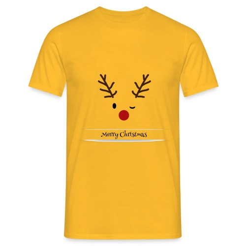 Koszulka z reniferem - Koszulka męska