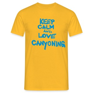 keep calm and love canyoning - Männer T-Shirt