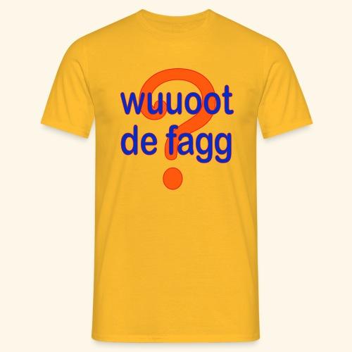 wuuoot de fagg? 002 (rot blau + rot orange) - Männer T-Shirt