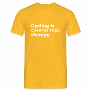 Cycling is therapy - Männer T-Shirt