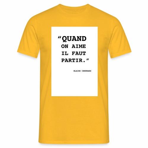 Cendrars#01 - T-shirt Homme