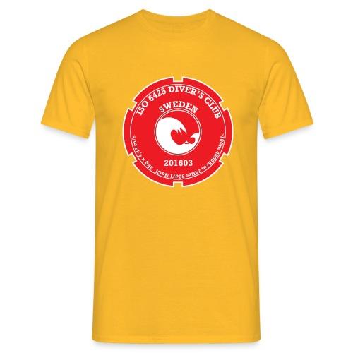 201 603 Case Back Logo (White / Red PADI) - Men's T-Shirt
