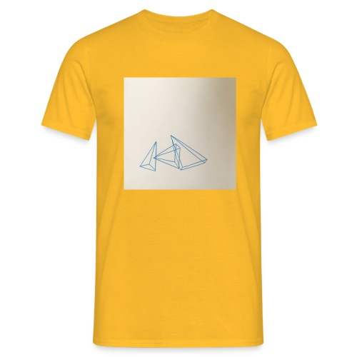 triangles bleu - T-shirt Homme