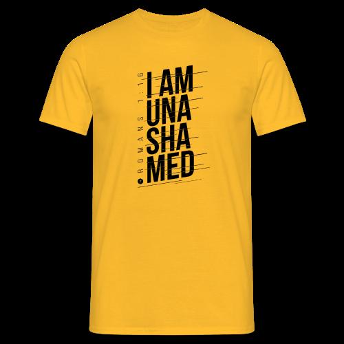 I am Unashamed Romans 1:16 Christian T Shirt - Men's T-Shirt