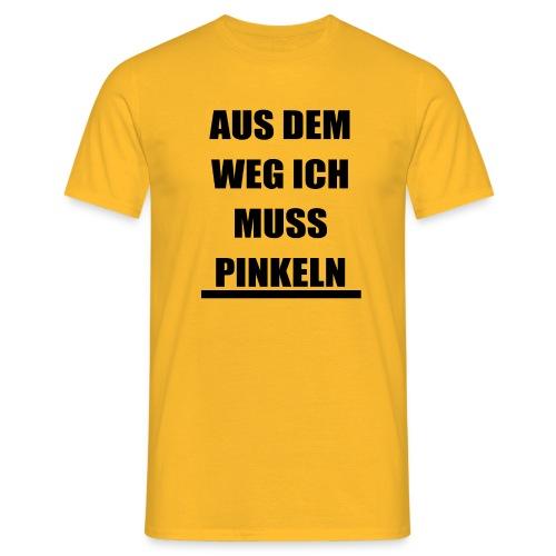 PINKELN schwarz - Männer T-Shirt