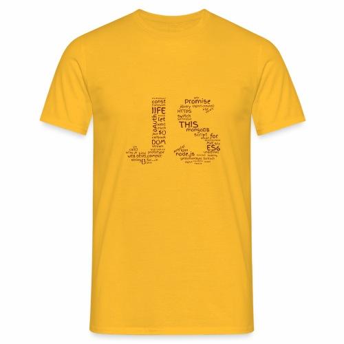 JS CLOUD brown - Koszulka męska