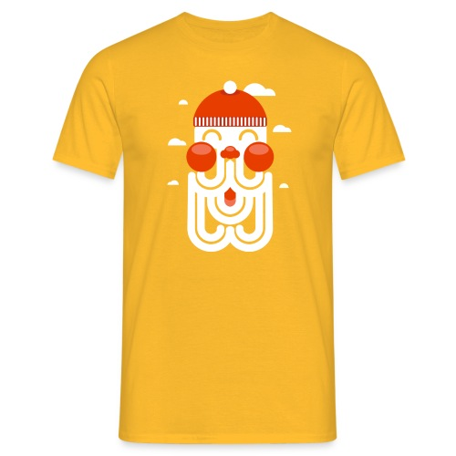 HAPPY hipster SANTA - Mannen T-shirt