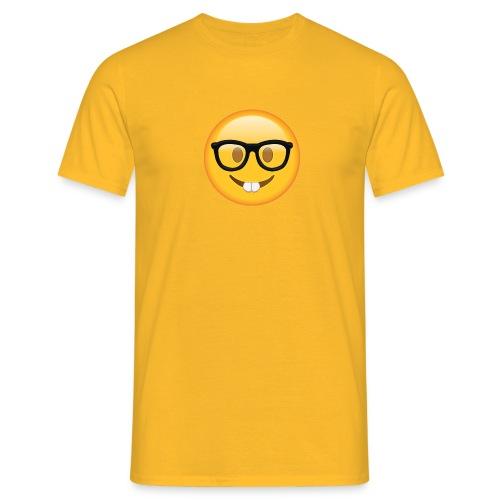 Nerd with Glasses Emoji - Men's T-Shirt