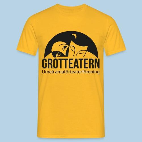 Grotteatern logo svart - T-shirt herr