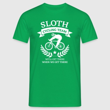 Sloth cycling team we'll get there  - Camiseta hombre