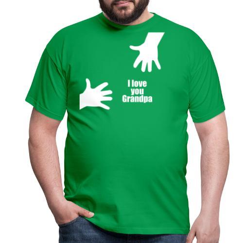 Ich liebe dich Opa - Vatertagsgeschenk - Männer T-Shirt
