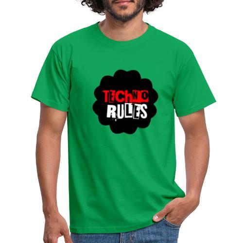 TECHNO rules black by olazland - Camiseta hombre