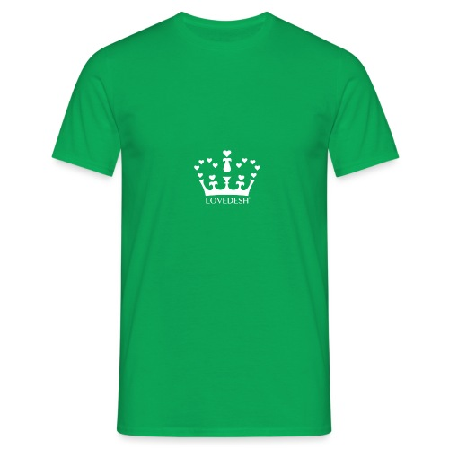 White Lovedesh Crown, Ethical Luxury - With Heart - Men's T-Shirt