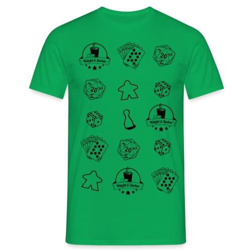 WuZ Transparent Schwarz hell - Männer T-Shirt