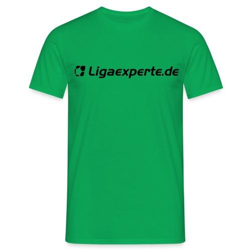 ligaexperte logo schriftzug fertig - Männer T-Shirt