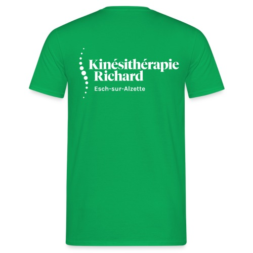 Logo Kiné Richard, Vorne-Hinten, White - Männer T-Shirt