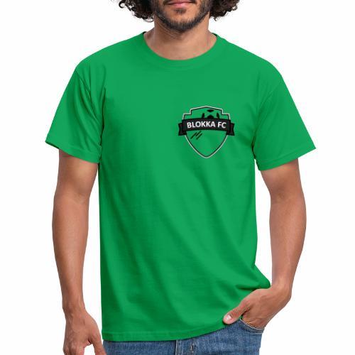 BlokkaFC Logo - Svart - T-skjorte for menn