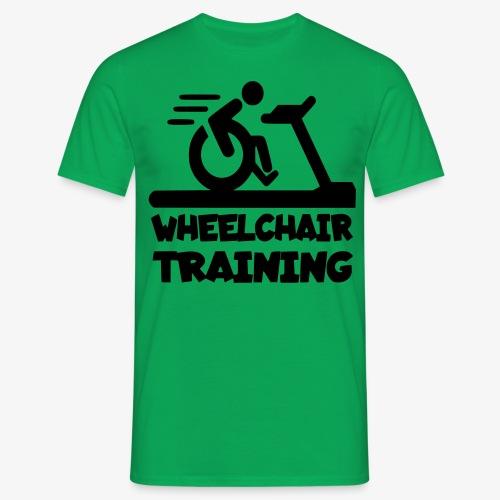 Rolstoel training 001 - Mannen T-shirt