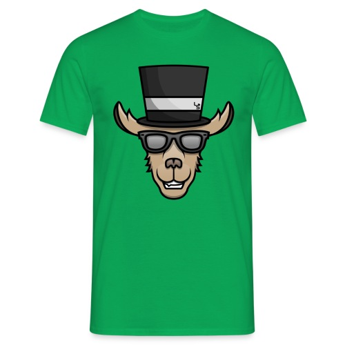 3174 2Cllama sir colored logo - Men's T-Shirt