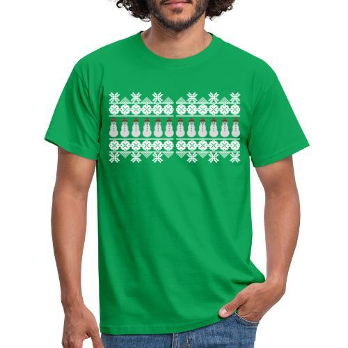 Ugly Christmas Weihnachten Xmas Norweger Design - Männer T-Shirt
