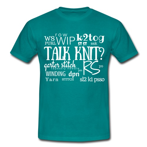 Talk Knit ?, white - Men's T-Shirt
