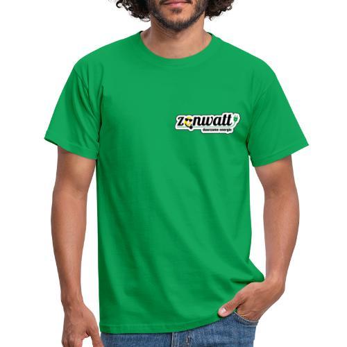 Zonwatt 2020 CMYK outline zwart - Mannen T-shirt