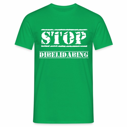 STOP Dibelidabing (blanc) - T-shirt Homme