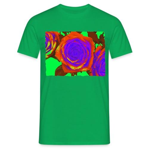 rose orange purple - Mannen T-shirt