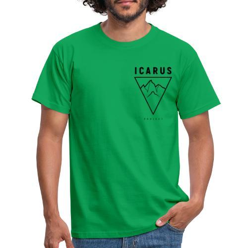 ICARUS LOGO schwarz - Männer T-Shirt