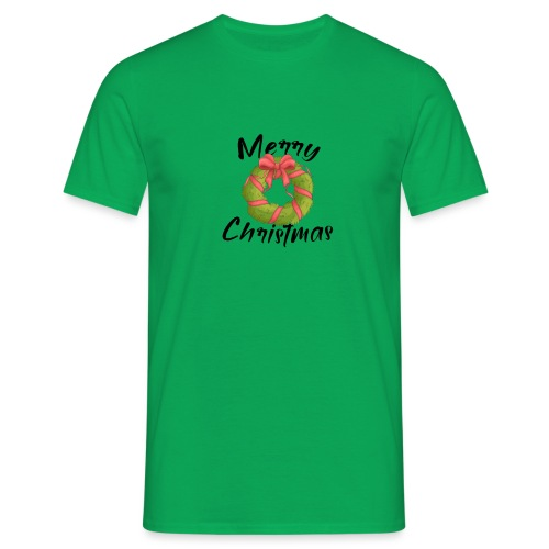 merry christmas, christmas present, christmas tree - Men's T-Shirt