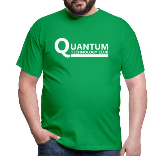 Quantum Tech logo (w) - Men's T-Shirt