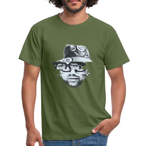Scrambled Head Black / White - Men's T-Shirt