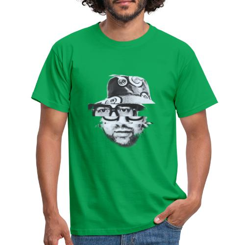 Scrambled Head Black / White - Men's T-Shirt