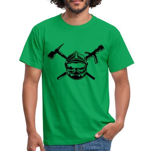 casque_pompier_hache et lance - T-shirt Homme