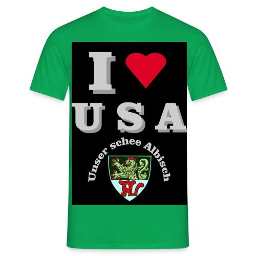 i love usa fuer schwarzes t shirt - Männer T-Shirt