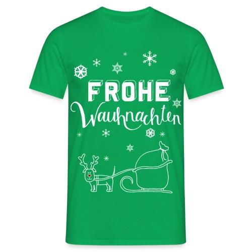 Frohe Wauhnachten Schlitt - Männer T-Shirt