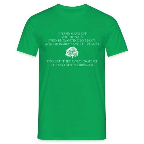 Tree Wifi - Mannen T-shirt