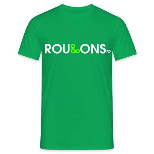logoblancFluo_Roulons.fr - T-shirt Homme