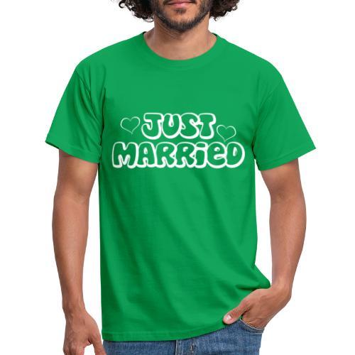 JUST MARRIED Partner Namen weiss - Männer T-Shirt