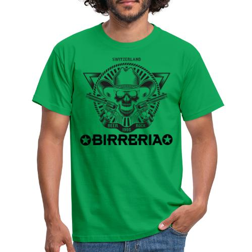Sheriff Skull with Revolver - Männer T-Shirt