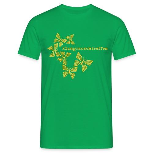 KlangRauschTreffen Schmetterlinge mit Schrift - Männer T-Shirt