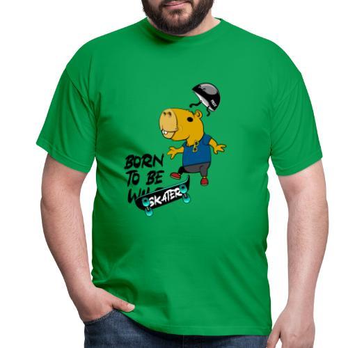 Skater Capybara - Männer T-Shirt