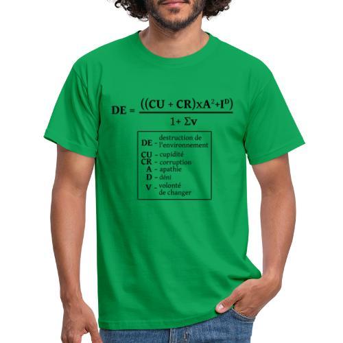 Formule de la destruction de l'environnement - T-shirt Homme