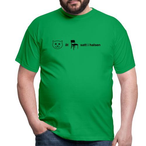 Katt åt stol - T-shirt herr
